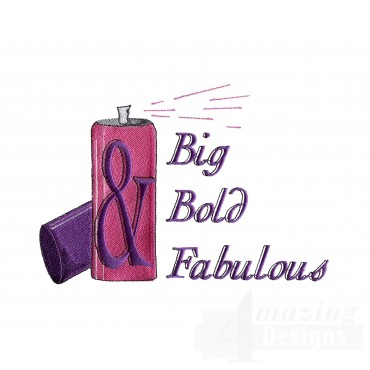 Big Bold Fabulous Embroidery Design
