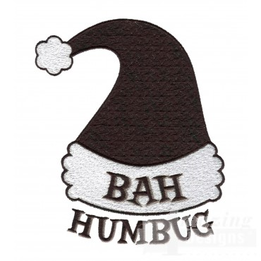 Bah Humbug Christmas Embroidery Design