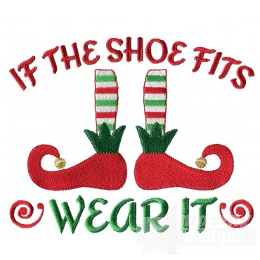 If The Shoe Fits Christmas Embroidery Design