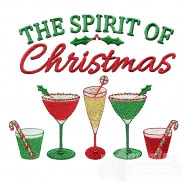 Spirit Of Christmas Embroidery Design