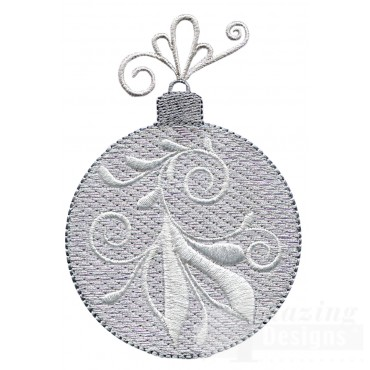 Silver Swirl Iridescent Ornament Embroidery Design