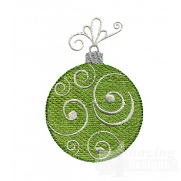Green Round Iridescent Ornament Embroidery Design