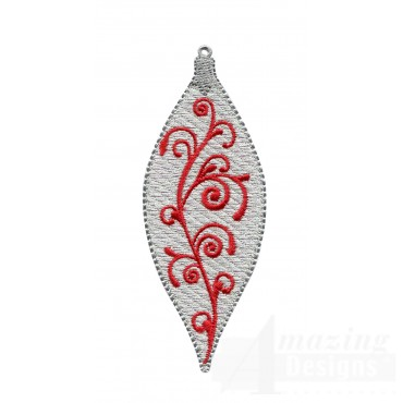 Silver Narrow Iridescent Ornament Embroidery Design