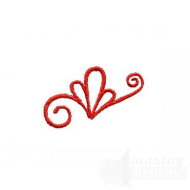 Ribbon Ornament Topper Embroidery Design