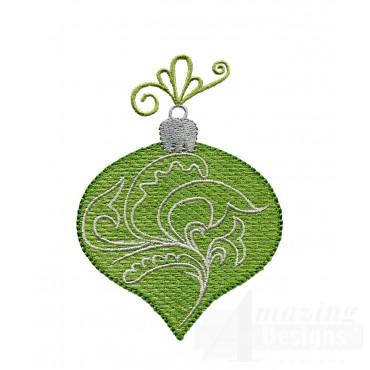 Free Iridescent Christmas Ornament Design