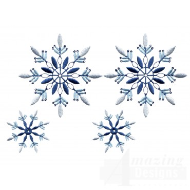 Crystal Snowflake Group Embroidery Design
