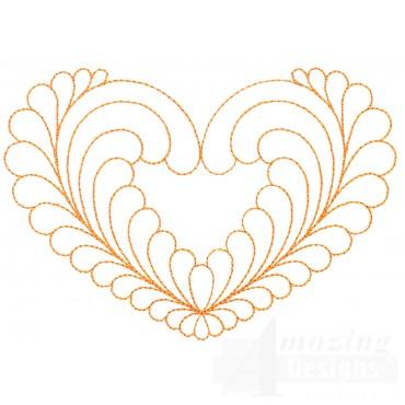 Quilt Pattern 3 Heart