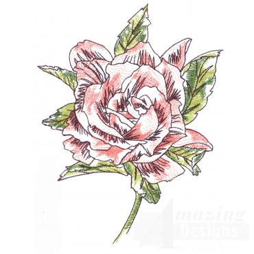 Gardenia Sketchbook Flower Embroidery Design