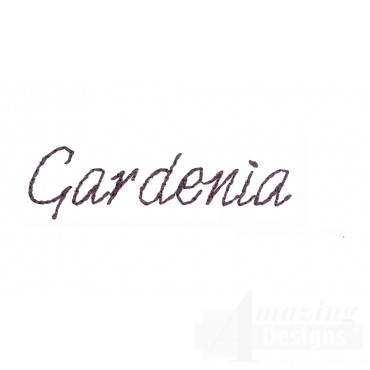 Gardenia Word Sketchbook Flower Embroidery Design