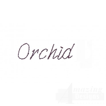 Orchid Word Sketchbook Flower Embroidery Design