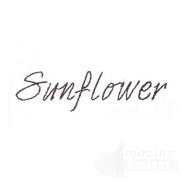 Sunflower Word Sketchbook Flower Embroidery Design