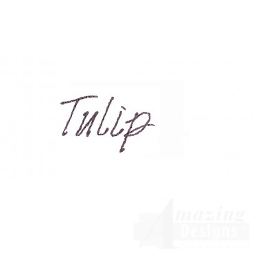 Tulip Word Sketchbook Flower Embroidery Design