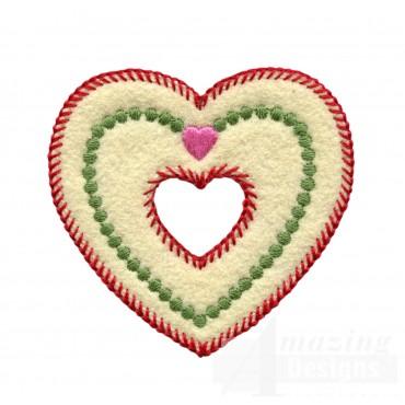 Heart In Heart Folk Art Embroidery Design