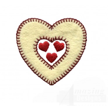 Hearts Inside Folk Art Embroidery Design