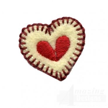 Tiny Heart Folk Art Embroidery Design