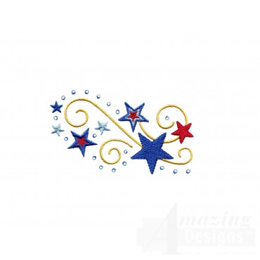 Stars Jeweled Grouping Embroidery Design