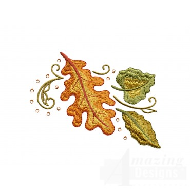 Autumn Leaves Jeweled Grouping Embroidery Design