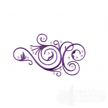Scrollwork Jeweled Grouping Embroidery Design
