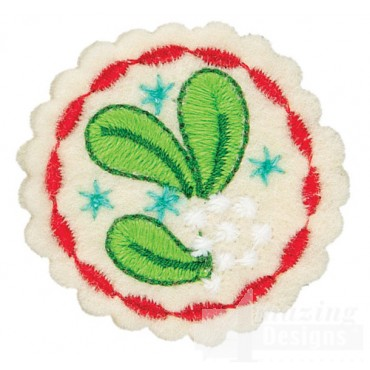 Mistletoe Small Circle Ornament Embroidery Design