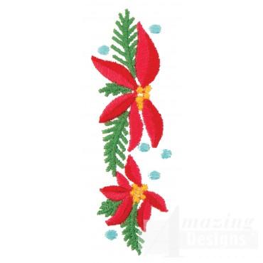 Poinsettia Line Embroidery Design