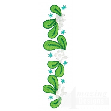 Mistletoe Line Embroidery Design