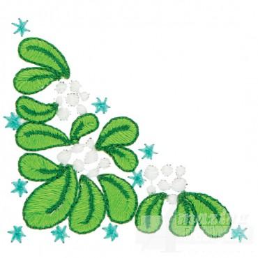 Mistletoe Corner Embroidery Design