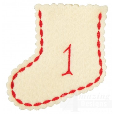 Stocking Ornament Day 1 Embroidery Design