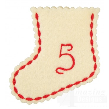 Stocking Ornament Day 5 Embroidery Design