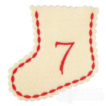 Stocking Ornament Day 7 Embroidery Design