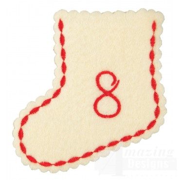 Stocking Ornament Day 8 Embroidery Design
