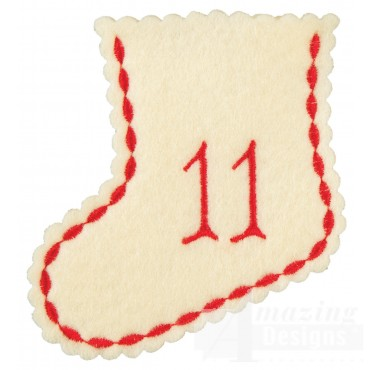 Stocking Ornament Day 11 Embroidery Design