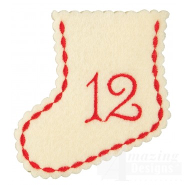 Stocking Day 12 Ornament Embroidery Design