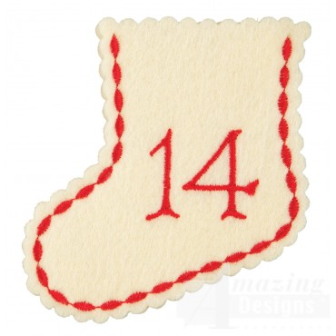 Stocking Ornament Day 14 Embroidery Design