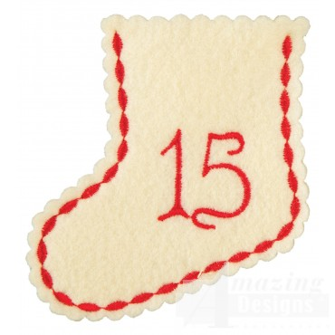 Stocking Ornament Day 15 Embroidery Design