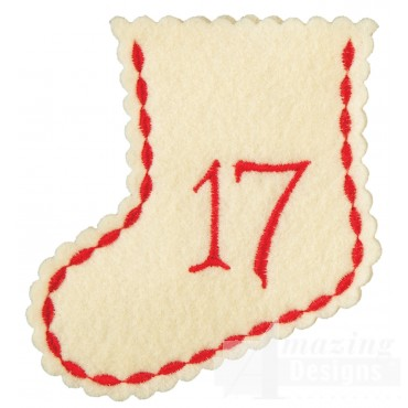 Stocking Ornament Day 17 Embroidery Design