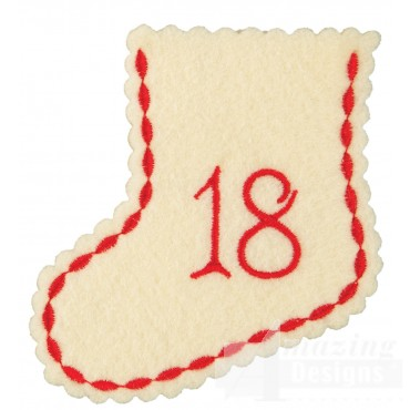 Stocking Ornament Day 18 Embroidery Design