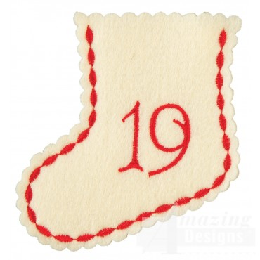 Stocking Ornament Day 19 Embroidery Design