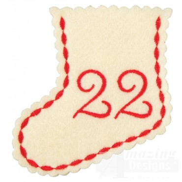 Stocking Ornament Day 22 Embroidery Design