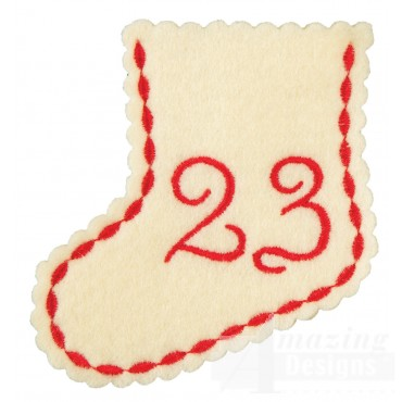 Stocking Ornament Day 23 Embroidery Design