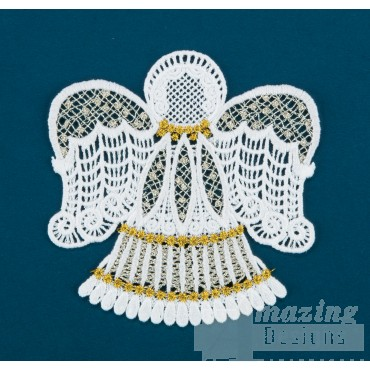 Freestanding Lace Angel 1 Embroidery Design