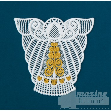 Freestanding Lace Angel 5 Embroidery Design