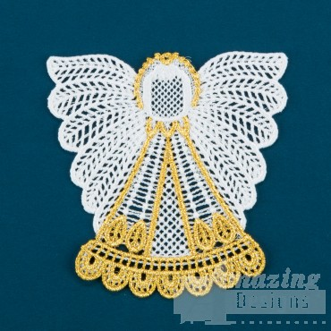 Freestanding Lace Angel 7 Embroidery Design