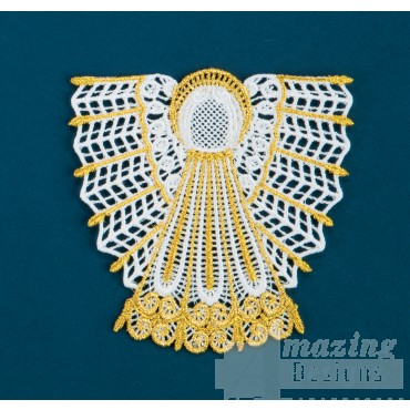 Freestanding Lace Angel 8 Embroidery Design