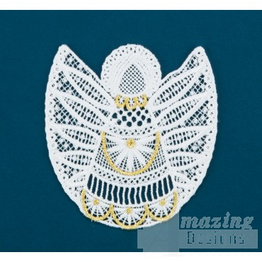Freestanding Lace Angel 10 Embroidery Design