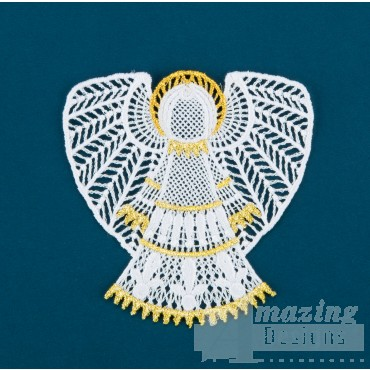Freestanding Lace Angel 12 Embroidery Design