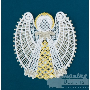 Freestanding Lace Angel 18 Embroidery Design