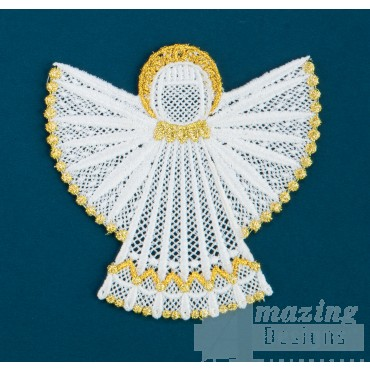 Freestanding Lace Angel 19 Embroidery Design