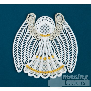Freestanding Lace Angel 20 Embroidery Design