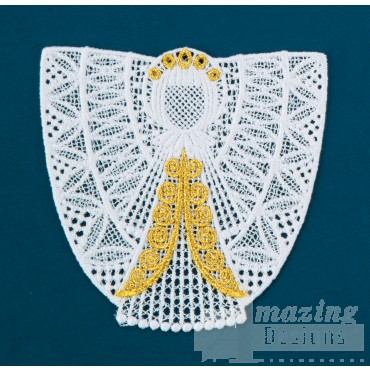Freestanding Lace Angel 29 Embroidery Design