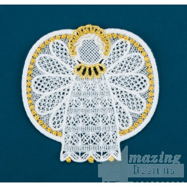 Freestanding Lace Angel 30 Embroidery Design